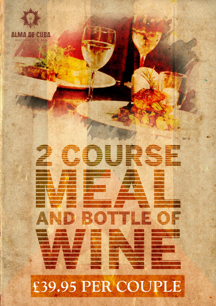 2 Course Meal for £39.95