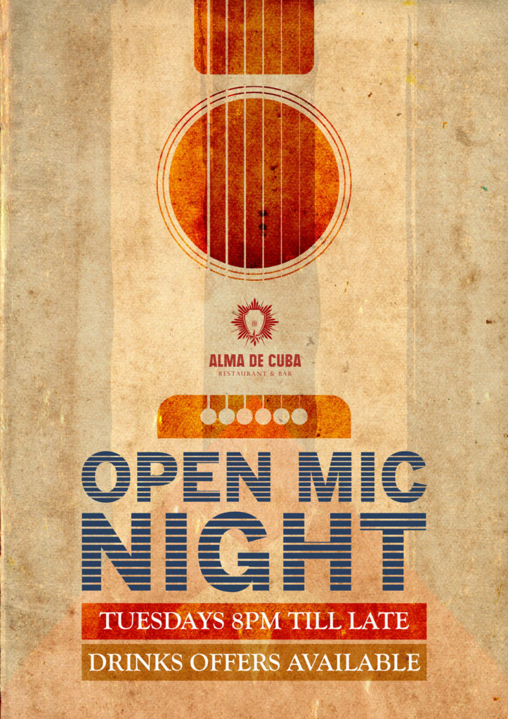 Open Mic Drinks Available