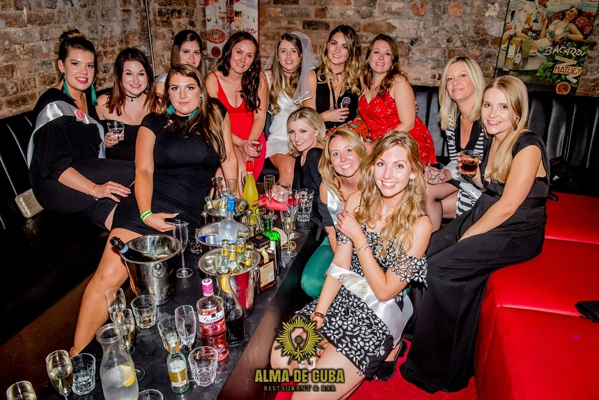 Alma de Cuba hen do private hire